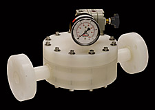GS Series Back Pressure Regulator made from PVDF Kynar